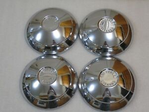 1960 1961 1962 1963 1964 Chevy Corvair Dog Dish Hubcaps Wheel Covers Gm Nice