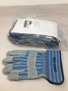 6 Pairs Wells Lamont 224 xl Industry Group White Mule Leather Palm Gloves