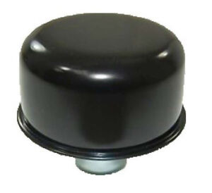 Black Push In Valve Cover Breather 1 Neck Rocker Vent Plug Oil Ford Mopar Chevy