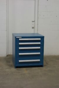 Used Vidmar 5 Drawer Cabinet 33 High Industrial Storage 1550