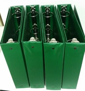 Avery Performore Green 3 ring Binder 2 Ring Lot Of 8 Binders Used Lot