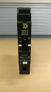 Square D Circuit Breaker 20 A Single Pole 120 240 277v Egb14020