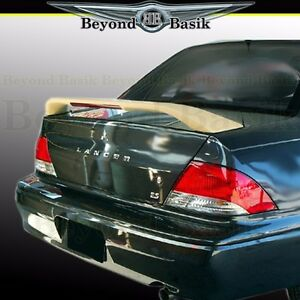 2002 2003 Mitsubishi Lancer Custom Style Rear Trunk Spoiler Wing W light Primer