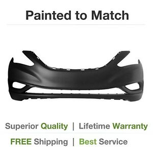 New Fits 2011 2012 2013 Hyundai Sonata Front Bumper Cover Painted