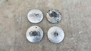 4 Pc Rare Mugen Mr 5 Wheel Center Caps Jdm Mr5 Japan Dc2 Ek9 Eg6 Da6