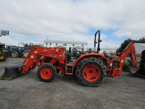 Kioti Rx6620 Power Shuttle Tractor With Kl7320 Loader Kb2485 Backhoe And Thumb