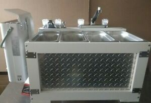 Portable Sink Concession Sink Hot Water 3 Compartment Food Truck Camping