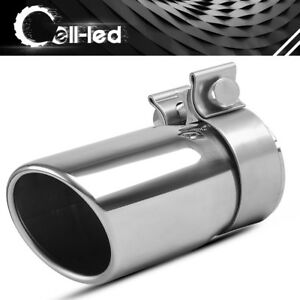 Clamp On Exhaust Tip 2 5 Inlet 3 Outlet 6 Inch Long Car Truck Tailpipe Chrome