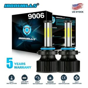 4 Sides Led Headlight Kit 9006 Hb4 Hb4u 6000k 2600w 390000lm Fog Bulbs Pair Hid