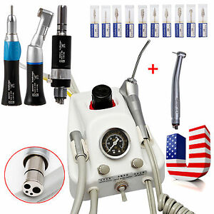 Usa Dental Air Turbine With Low High Speed Handpiece 4hole tungsten Carbide Burs
