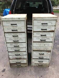 Wooden Cabinet Industrial File Library Storage School Metal Steelmaster Vtg 1