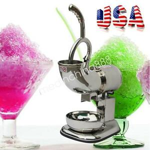 440 Lbs 200w Ice Shaver Machine Sno Snow Cone Maker Shaved Icee Crusher 110v Hot