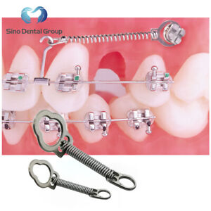 10 X Dental Orthodontic Nickel Titanium Closed Coil Springs With Eyelets 12mm