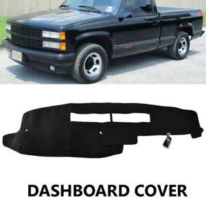 Fits Chevy Silverado Truck K1500 K2500 K3500 1988 1994 Dash Cover Mat Black