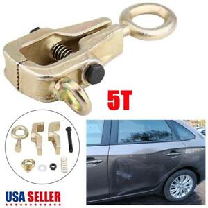 5 Ton Self Tightening Single 1 Way Frame Back Grips Auto Body Repair Pull Clamp