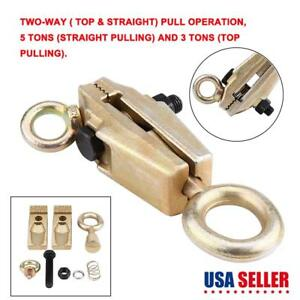 2 Way 5 Ton Self Tightening Grip Frame Body Repair Pull Back Clamp Puller Dent