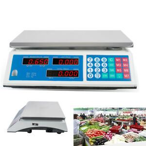 Ca Electronic Digital 66lb Kitchen Scale Commercial Food Postal Weight Ac 110v