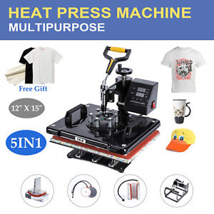 5 In 1 Multifunctional 360 Degree Swivel T shirt Heat Press Machine