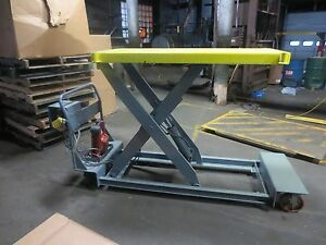 Vestil Lift Hydraulic Electric Portable Scissors Lift Table 24 X 64 1000
