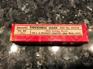 Starrett No 66 Thickness Gage Edp50314