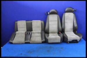 2003 2004 Ford Mustang Cobra Svt Oem Black Leather Suede Convertible Seats