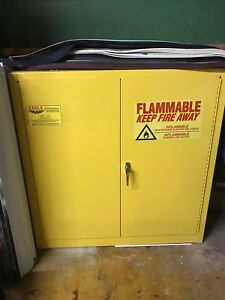 Eagle Fire Safety Storage Cabinet Flammable Hazards 24 Gallon 44 X 43 X 12