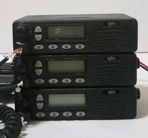 Lot Of 3 Relm Bk Rmv25 25 Watts Vhf Mobile Radio 128 Channel parts Only