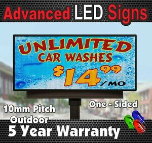 Led Programmable Electronic Board Full Color Sign Led Display 44 X 113 School