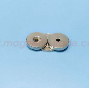 Lots 22mm X 4mm Countersunk 4mm Strong Disc Magnets Rare Earth Neodymium N50
