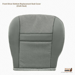 2007 Dodge Ram 1500 Driver Bottom Replacement Cloth Cover Color Med Slate Gray