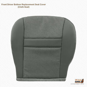 2007 2008 Dodge Ram 1500 Driver Bottom Replacement Cloth Seat Cover Color Gray