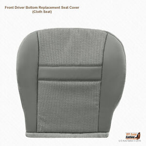 2007 2008 Dodge Ram Front Left Side Bottom Gray Fabric Replacement Seat Cover