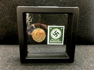 Authentic German World War 2 Rare 5Pf Coin amp; with Famous 6Pf Unused Stamp WWII $15.50