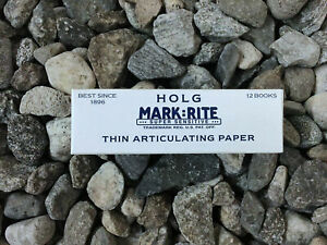 3 X Boxes Thin Articulating Paper Super Sensitive Holg Mark rite 140 nbtn050