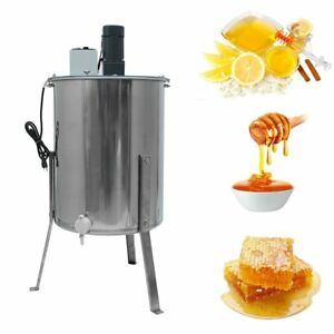 Electric Four 4 8 Frame Stainless Steel Honey Extractor bee v004e Us Ship