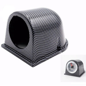 Car Carbon Fiber 2 52mm Universal One Hole Dash Gauge Pod Mount Holder Sales