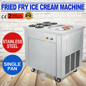 Thai Fried Ice Cream Machine Roll Ice Cream Making Machine