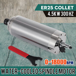 Water cooled 4 5kw Spindle Motor 4000w Er25 Engraving Milling Machine