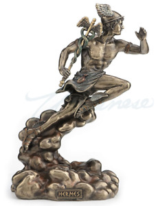 Hermes Running With Caduceus Figure Statue Sculpture Gift Boxed