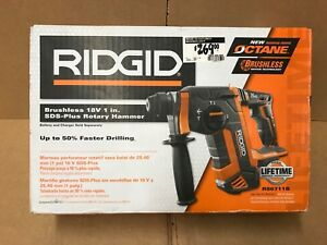 Ridgid 18 volt Octane Cordless Brushless 1in Sds plus Rotary Hammer tool Only