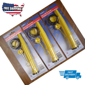 Pack Of 3 Ez Pour Replacement Spout Replace Old Gas Can Fill Kit Fuel Jug