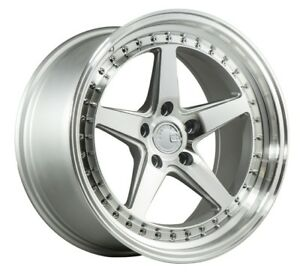 Aodhan Ds05 18x9 5 15 18x10 5 22 5x114 3 Silver Machined Staggered set Of 4