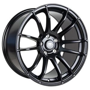 Mst Mt33 18x9 5 38 5x114 3 Matte Black Concave Set Of 4