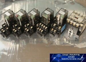 Fuji Electric 250v Cube Relays With Base Magnetic Contactor Sj 0g set Of 6