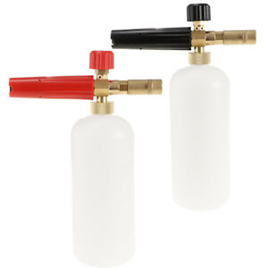 2 Pieces Pressure Washer Jet Wash Soap Bottle Foam Cannon Car Wash Black red