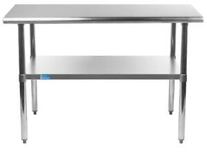 Amgood 18 X 30 Stainless Steel Work Table With Under shelf Nsf Kitchen
