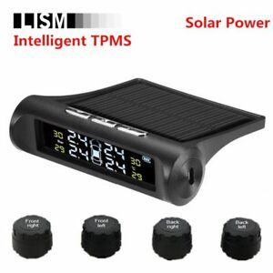 Intelligent Smart Car Tpms Tyre Pressure Monitoring System Solar Power Charging