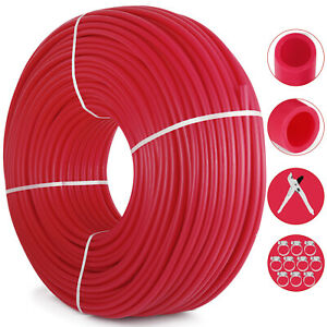 1 2 X1000ft Pex Tubing Oxygen Barrier Evoh Red 1 000ft Heating With Free Cutter