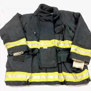 Quest Firefighter Turnout Jacket Mens 54x32 Black With Liner