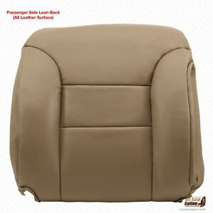 1995 1996 1997 1998 19999 Chevy Tahoe Suburban Passeger Top Leather Cover Tan